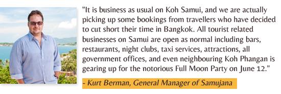 Kurt Berman  is the GM of luxury villa resort Samujana in Samui