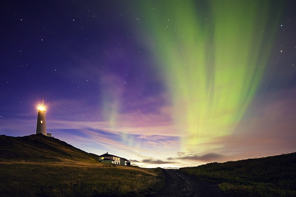 The Aurora dances.