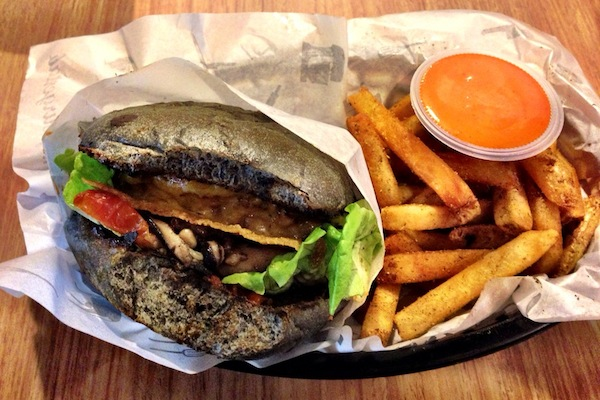 Those charcoal burger buns.