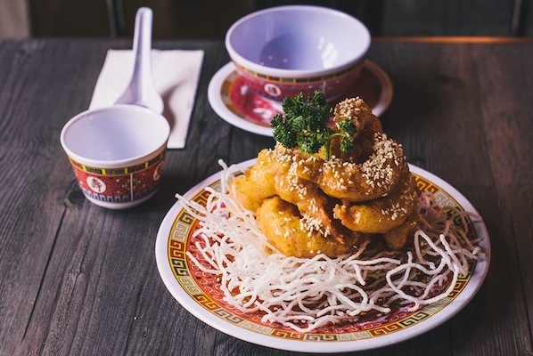 This is called The Boss's Honey Prawns. Because...it's the boss!