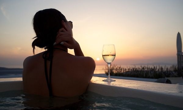 Sunsets and wine, the answer to everything.