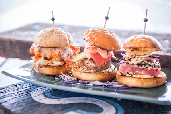 Sliders at a beach bar. What's not to love?