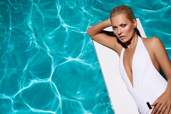Now the face of St. Tropez - Kate Moss.