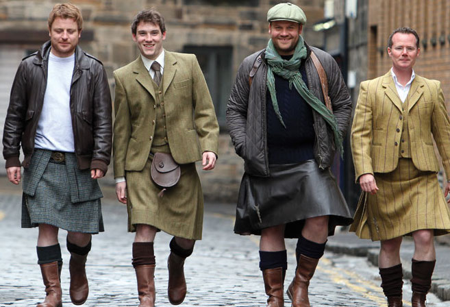 There is national attire that looks cool, and then there's the kilt.