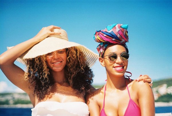 Beybey and Solange have got it covered. If you forget to bring a protectant, wear a hat, or a turban!