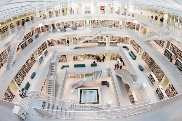 This library is probably cleaner than your room will ever be.