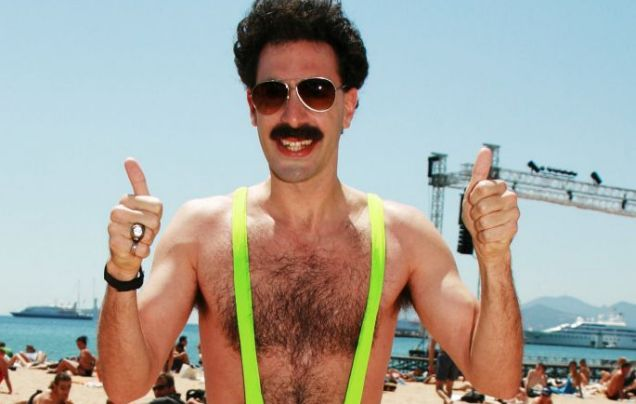 Actually, Borat as himself would be considered as offensive in any country...