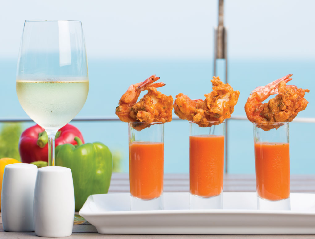 This is not the appetizer, really. The view is.