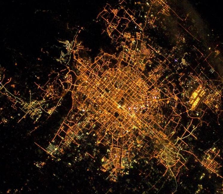 Beijing in its metropolitian finery, ready for the night.