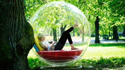 Some people need physical personal bubbles to get the idea.