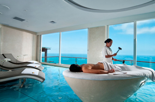 Want to know what you're paying for? It's the view, your room and this. amazing. spa.