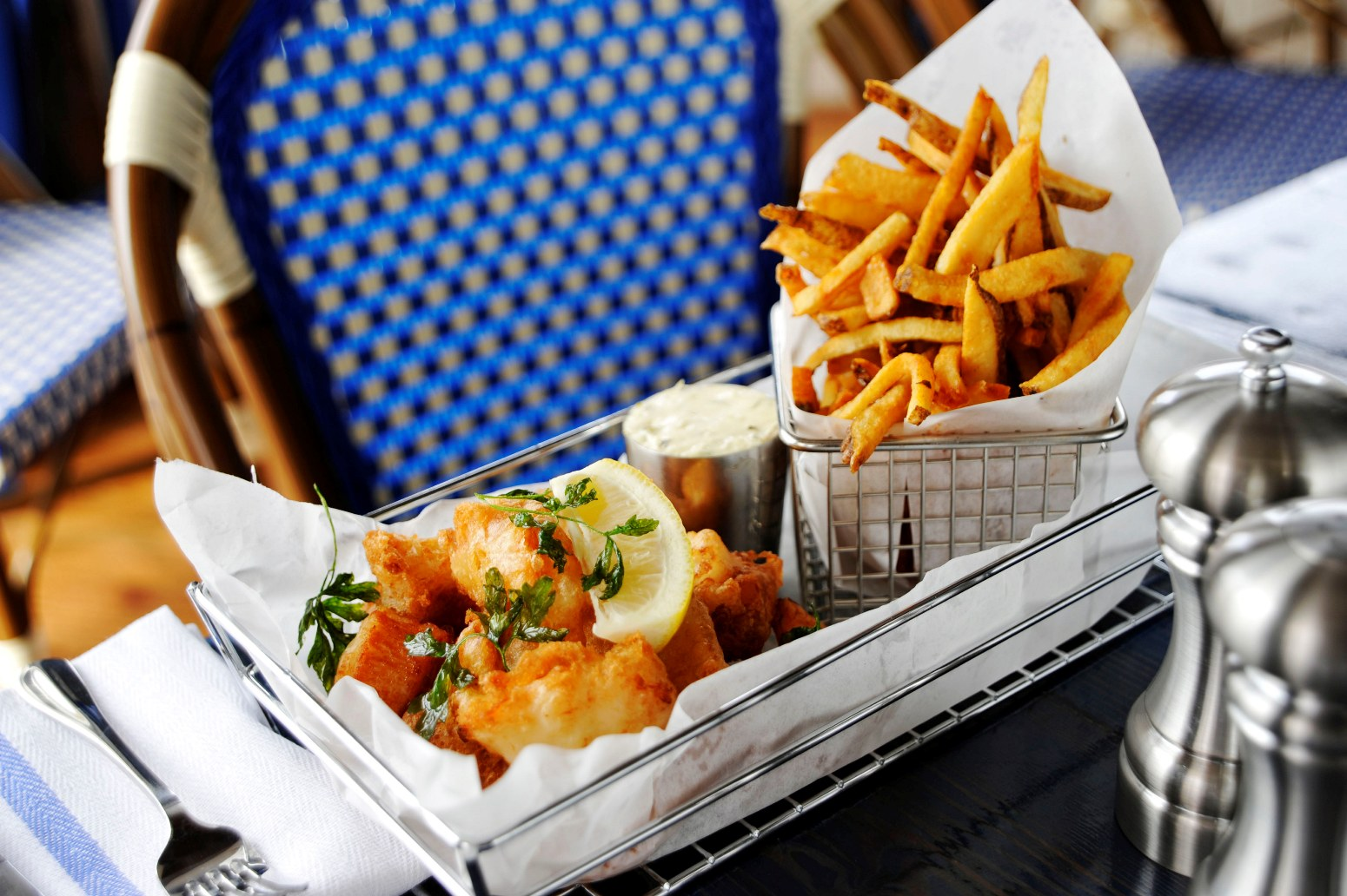 When in doubt (and not vegetarian), go with fish and chips.