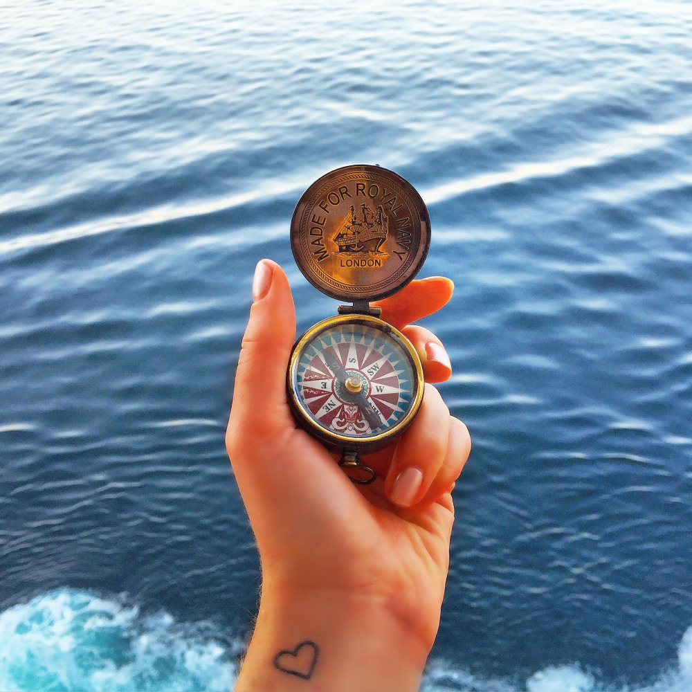 Who said a compass was just for show? Oh wait, it is.