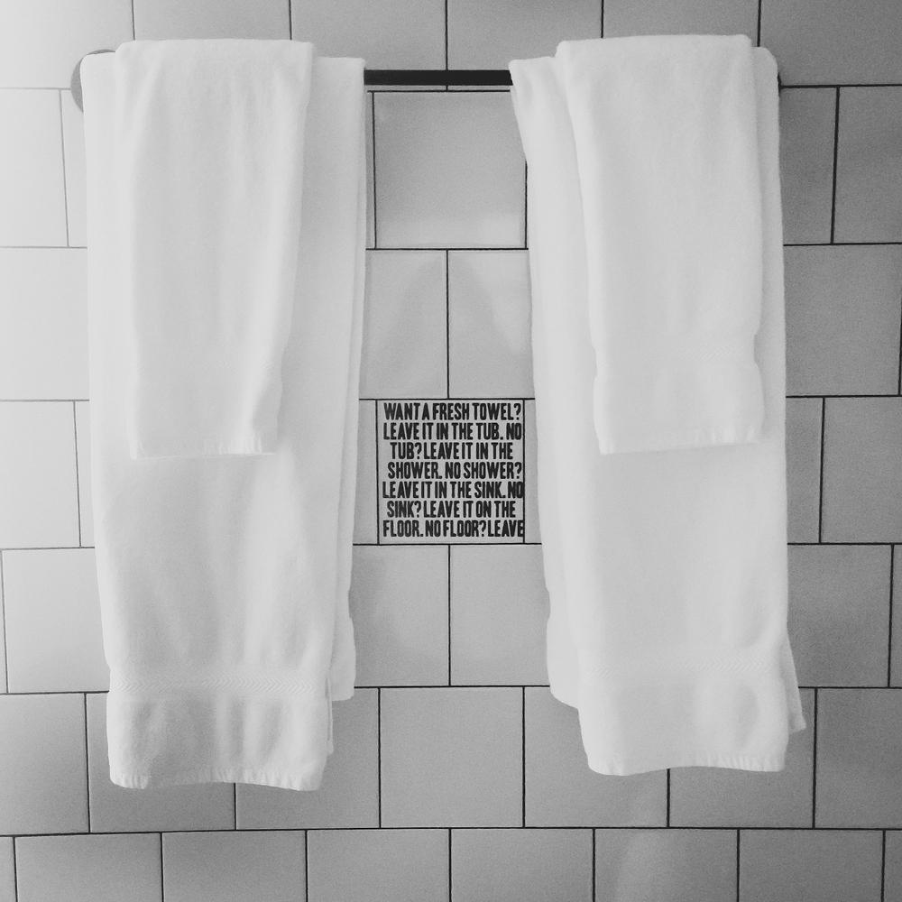 Ace+Hotel+NYC+Loft+Bathroom+Towel+rack+signage