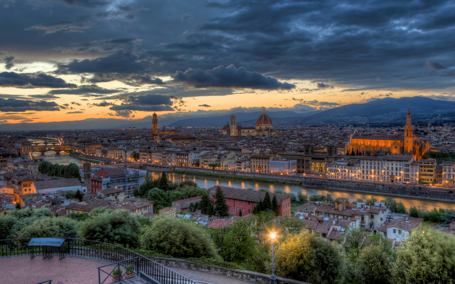 Skyline view of Florence, Tuscany.