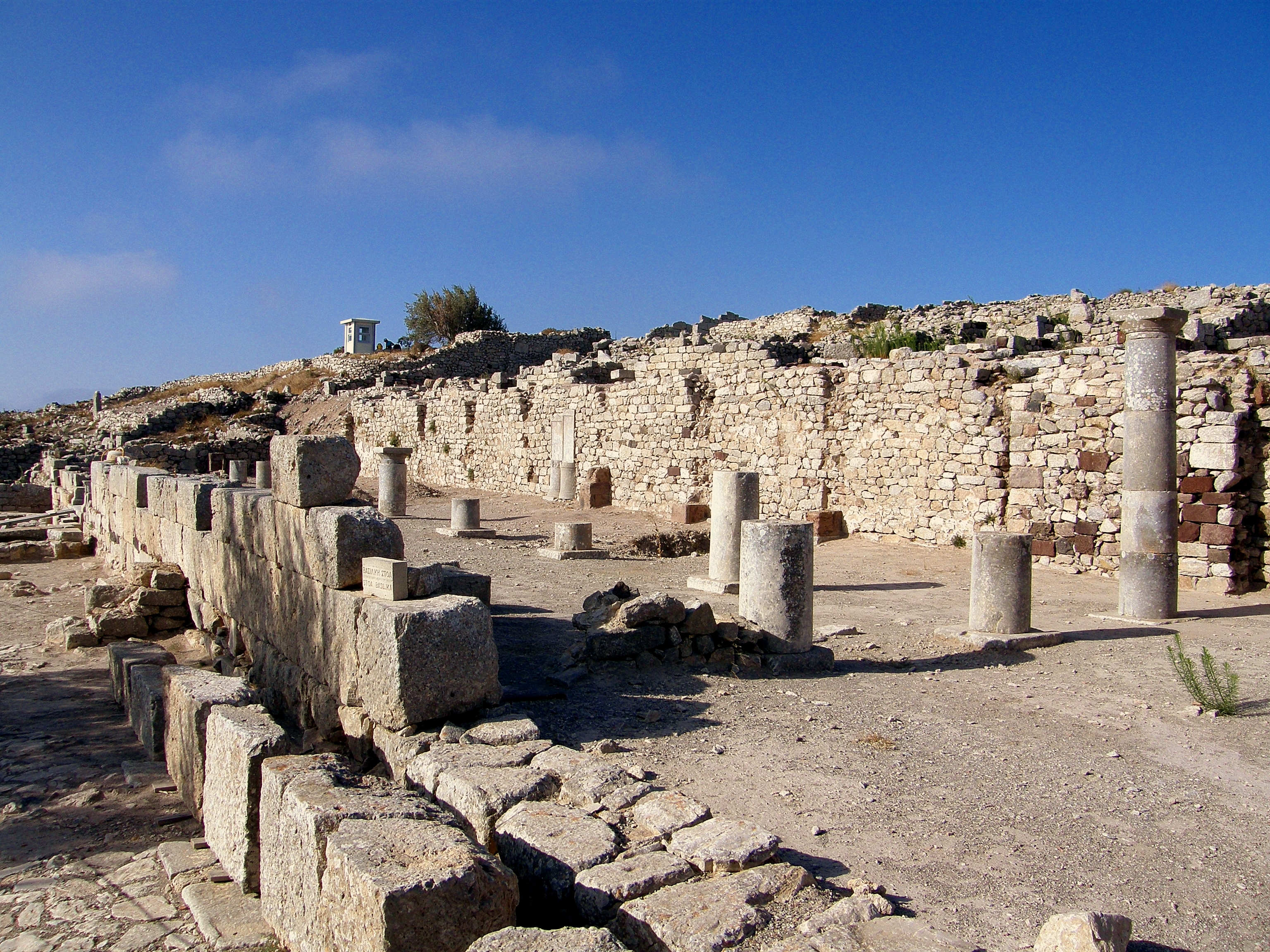 It might not look like much, but this was once the Stoa Basilica in ancient Thira.