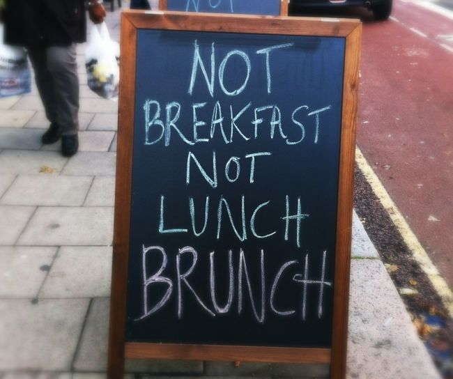 Brunch is a serious proposition around here