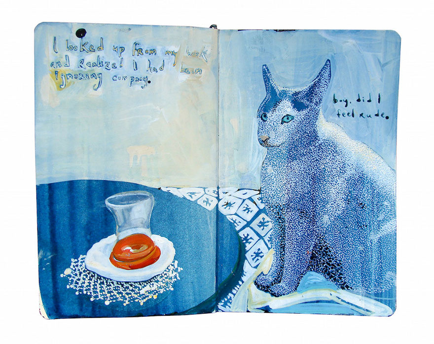 painted moleskine journals
