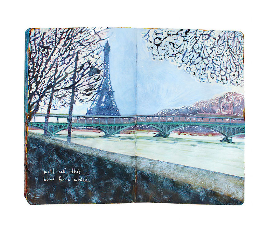 i-documented-my-100-days-of-travelling-with-arylic-paintings-on-a-moleskine-notebook__880