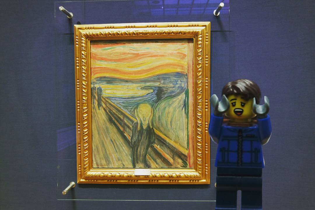 Screamed along at the National gallery in Oslo, Norway