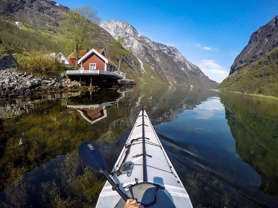 Nærøyfjorden near Bakka