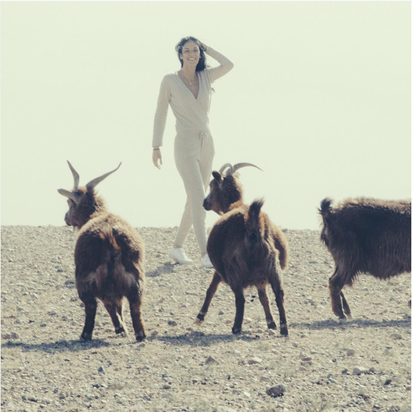 Or a jumpsuit, to you know, frolic with the goats