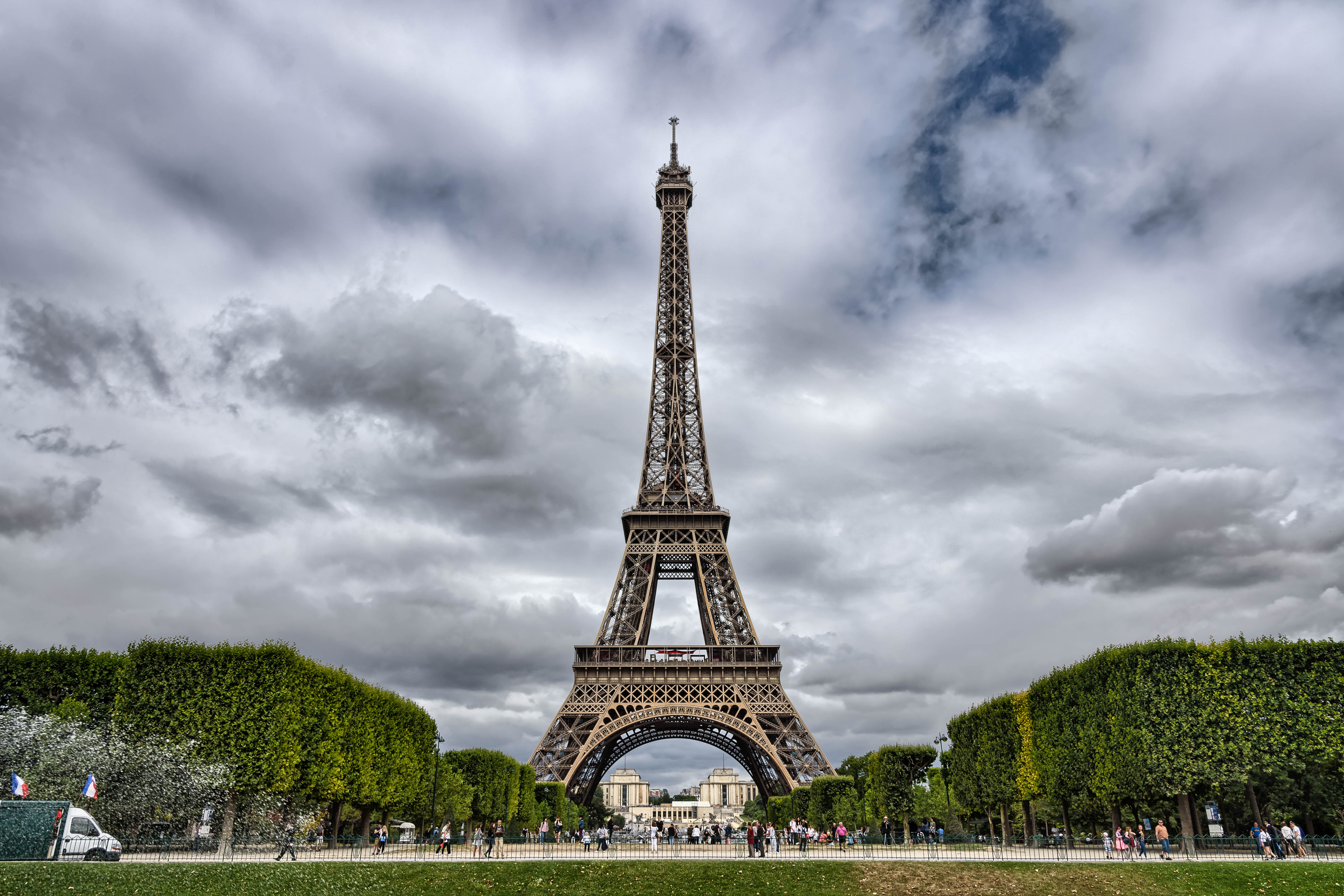 Eiffel Tower as seen from Champ-de-Mars