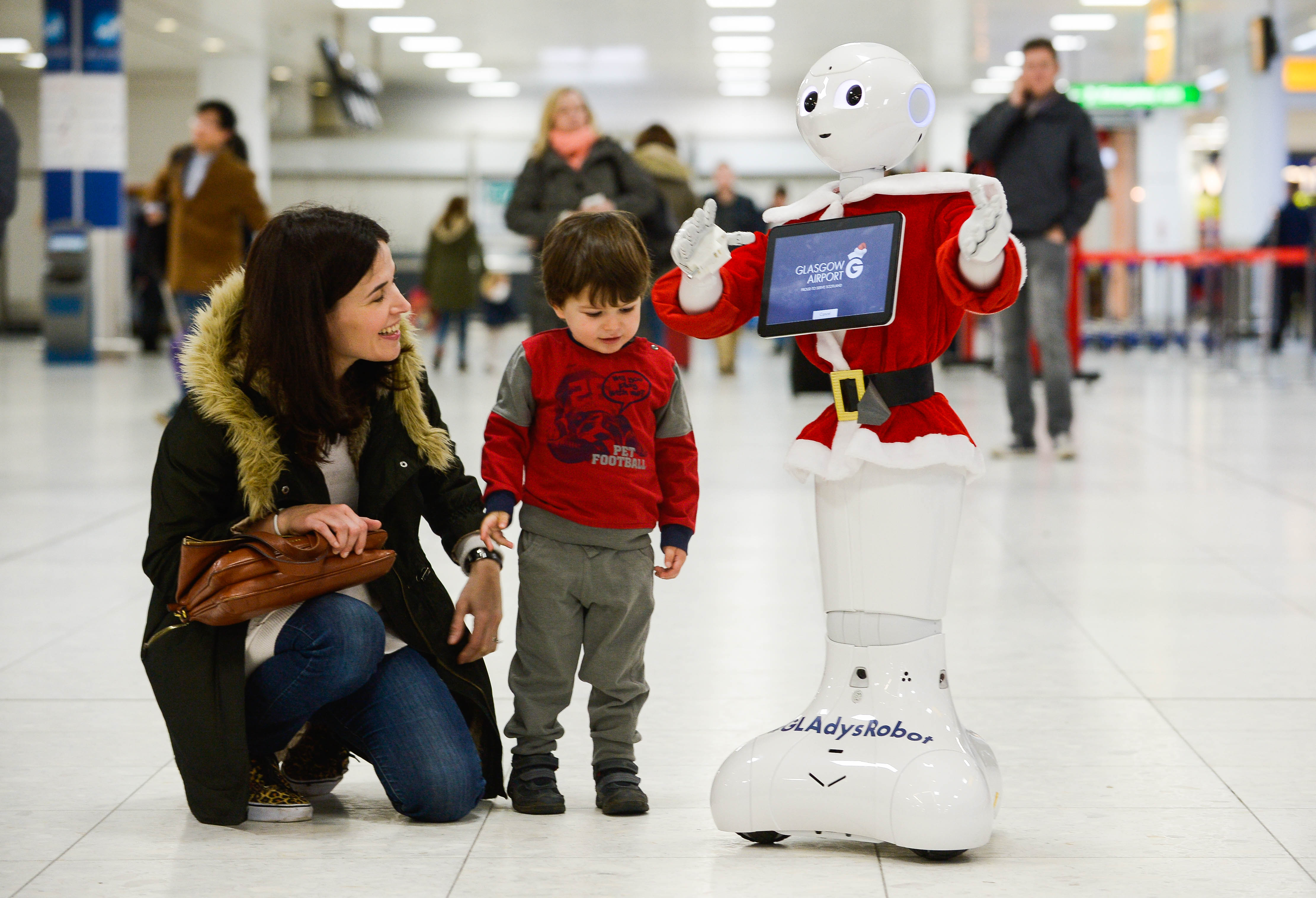 Glasgow has proved once again it has an AI for technology with todayÕs introduction of GLAdys Ð the UKÕs first humanoid robot airport ambassador. State-of- the-art GLAdys, whose name comes from GlasgowÕs International Air Transport Association (IATA) code, will be based in the main departures area and has initially been programmed to entertain passengers of all ages as they pass through the airport. Passengers check out GLAdys