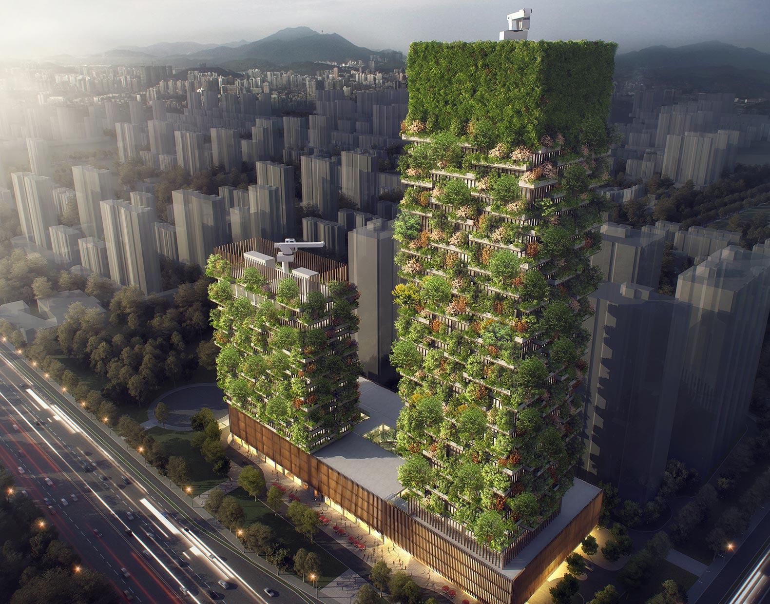 nanjing-towers-two-green-buildings