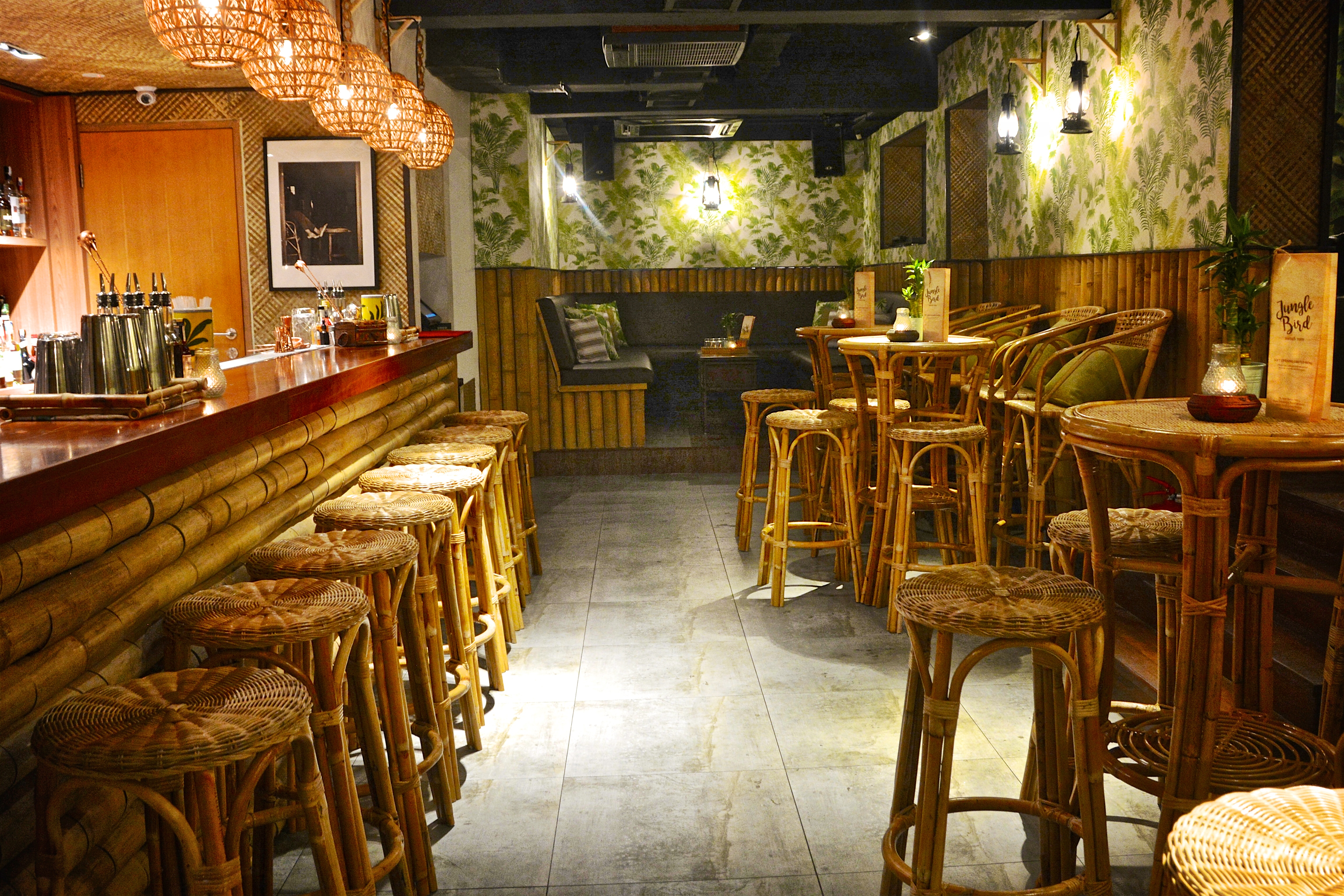 Beautiful interior at the rum-focused JungleBird in Damansara Heights